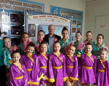 """Ансамбль """"Аквик"""" принял участие в праздничном концерте на сцене Дома офицеров г. Калининграда"""